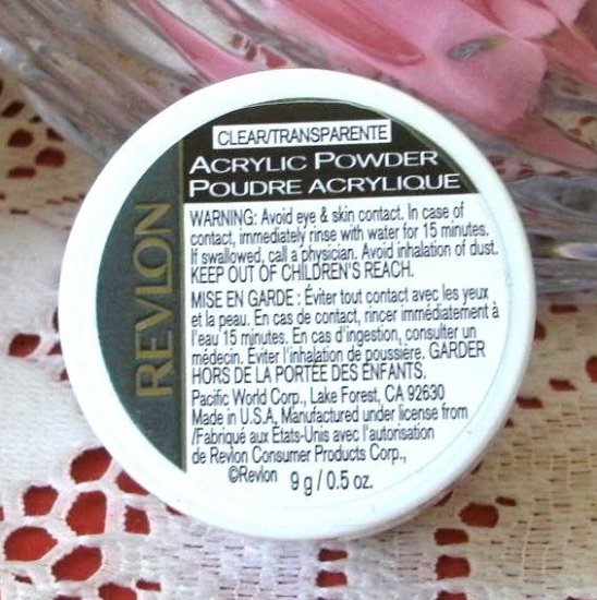 Revlon Acrylic Powder Clear / Transparent 9 g for Artificial Nails