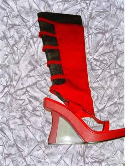 Sexy Red Sandal Boots By Wild Rose Size 11m
