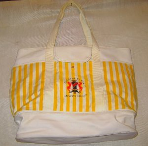 Vintage Giorgio Bag Tote Yellow/White Stripe, NWOT