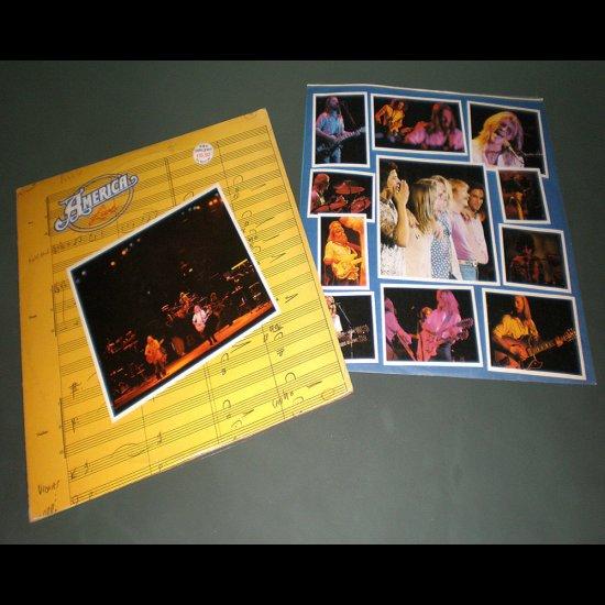 AMERICA LIVE ( USA Pop Rock RARE Vinyl Record LP )