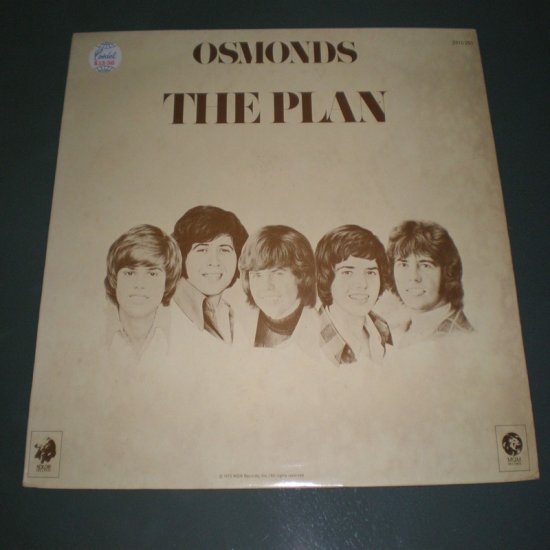 OSMONDS , THE PLAN  ( GERMANY Pop Rock RARE Vinyl Record LP )