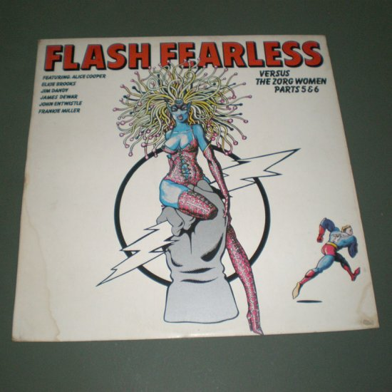 FLASH FEARLESS Vs The Zorg Women parts 5 & 6 ( Various Artists ) UK Rock Rare Vinyl Record LP