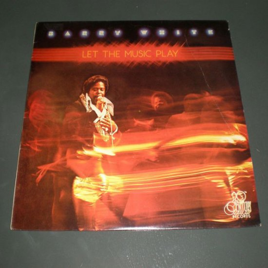 BARRY WHITE : LET THE MUSIC PLAY ( R&B Soul Vinyl Record LP )