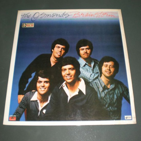 THE OSMONDS : BRAINSTORM ( POP Vinyl Record LP )