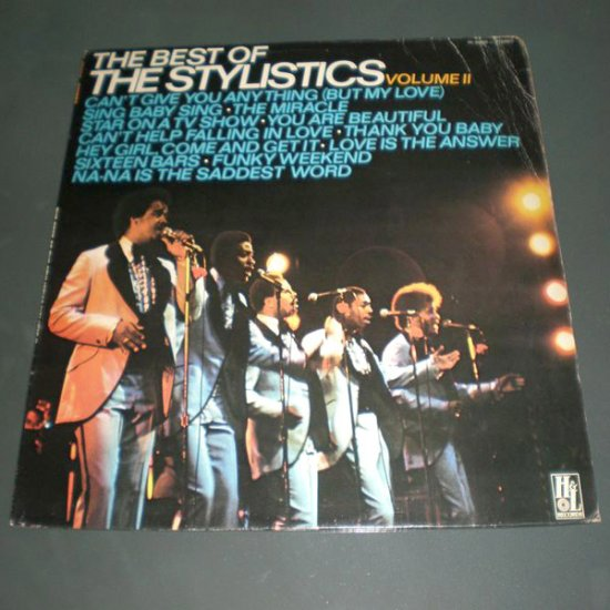 THE STYLISTICS : THE BEST OF, VOL.  2 ( U.S Funk Soul Vinyl Record LP )