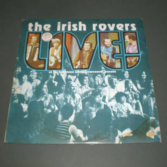 THE IRISH ROVERS : LIVE ( Celtic Folk Vinyl Record LP )