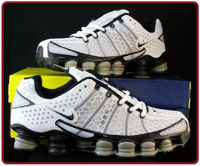 Mens Nike Shox TL3 White Black Size 8