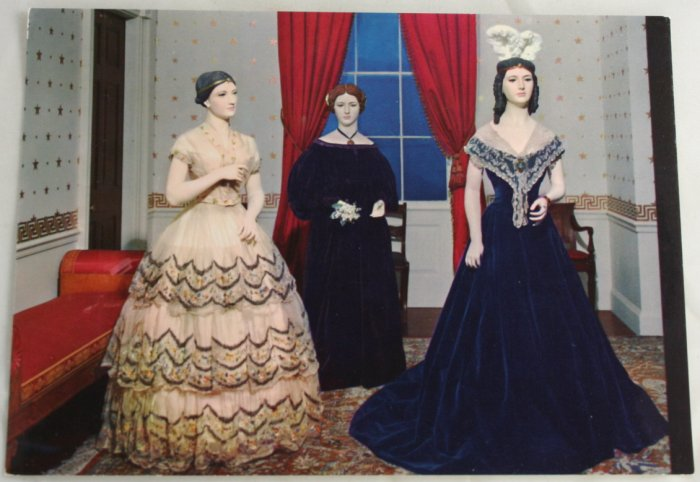 """First Ladies Costumes"" VINTAGE POSTCARD Washington DC"