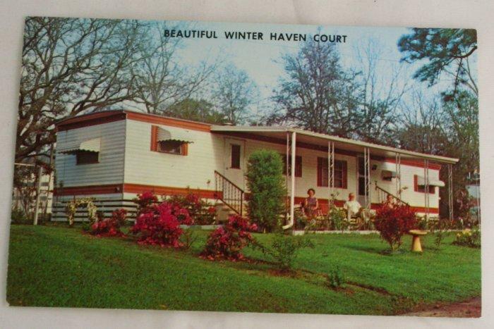 """Winter Haven Court""  VINTAGE POSTCARD Fair Hope Alabama"