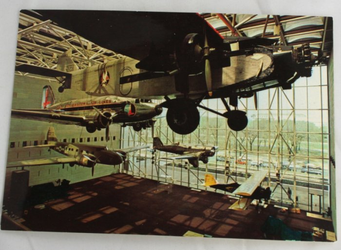"Air & Space Museum ""Hall of Transportation"" VINTAGE POSTCARD Washington DC"