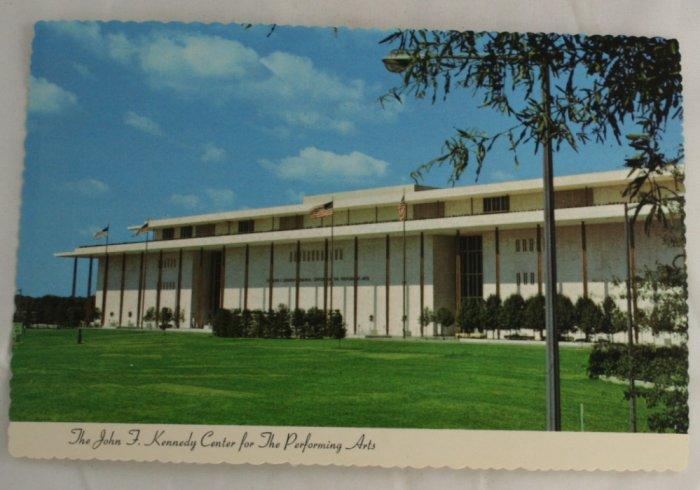 """JFK Center Performing"" VINTAGE POSTCARD Washington DC"