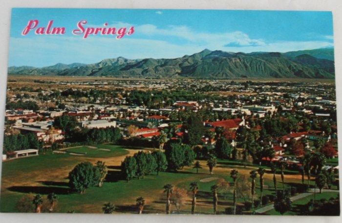 """""""Panorama of Palm Springs"""" VINTAGE POSTCARD Palm Springs CA"""