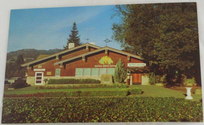 """Swiss Colony Winery"" VINTAGE POSTCARD Asti California"