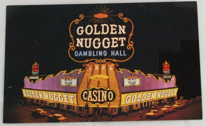 """Golden Nugget"" VINTAGE POSTCARD Las Vegas Nevada"