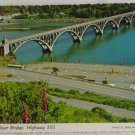 """Rogue River Bridge"" VINTAGE POSTCARD Gold Beach Oregon"