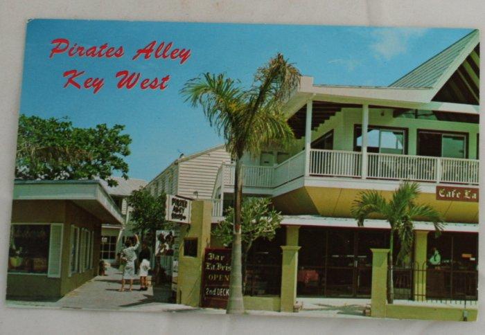 """Pirates Alley"" VINTAGE POSTCARD Key West Florida"