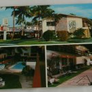"""Surfside Apartments""  VINTAGE POSTCARD Pompano Beach Florida"