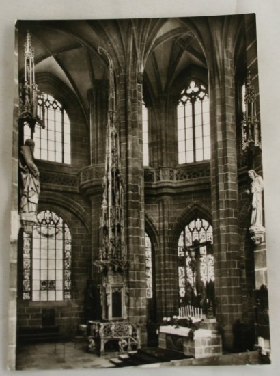 POSTCARD Germany-Bavaria-Nurnberg-St. Lorenz Church