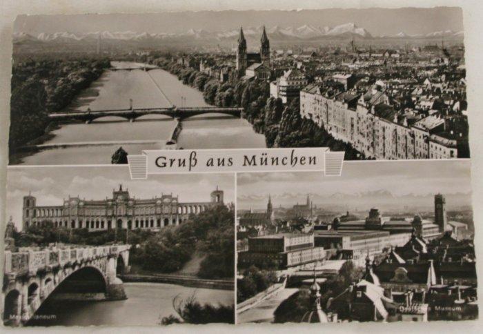 POSTCARD Germany-Bavaria-Gru� aus München