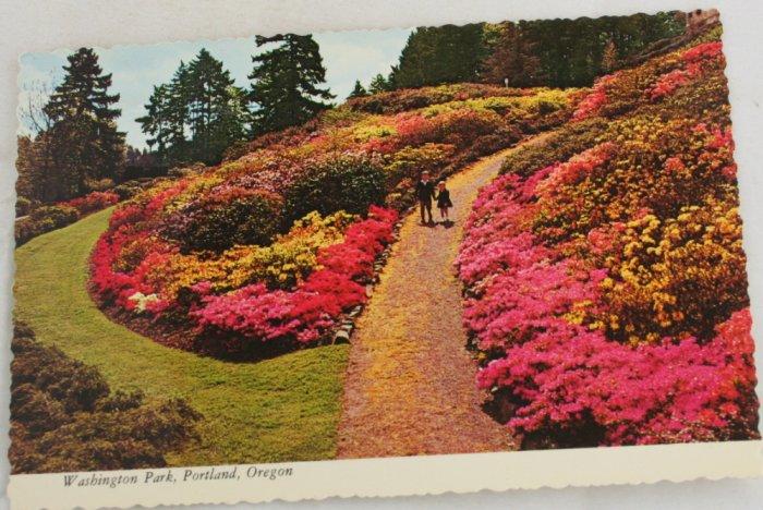 VINTAGE POSTCARD Washington Park, Portland OR