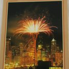 POSTCARD USA Seattle Washington Space Needle Fireworks