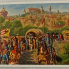 POSTCARD Germany-Bavaria-Nurnberg-Merchants 16th Century