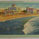 Linen Card-VINTAGE POSTCARD-California,Santa Monica