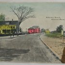 Hand Colored  VINTAGE POSTCARD MA Atlantic Beach