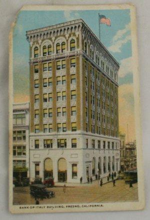 Hand Colored Postcard VINTAGE POSTCARD Fresno CA