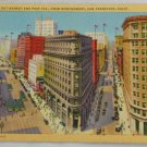 Lithograph VINTAGE POSTCARD CA San Francisco Streets