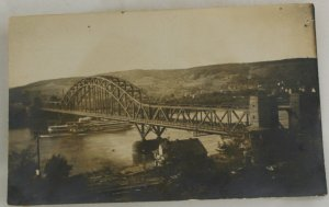 RPPC Bridge Postcard VINTAGE POSTCARD No ID