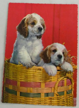Puppies in a Basket-Printed in Germany