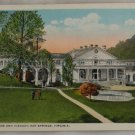 Hand Colored Postcard VINTAGE POSTCARD Hot Springs VA