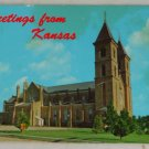 POSTCARD-USA,Kansas,Victoria, St. Fidelis Church