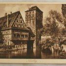 POSTCARD Germany-Bavaria-Nurnberg-Henkersteg-Sepia