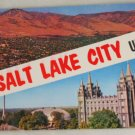POSTCARD USA Utah,Salt Lake City,Big Letter, Panorama