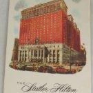 POSTCARD USA New York City,Statler Hilton Hotel