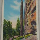 POSTCARD Wyoming,Yellowstone,Cody Highway,Chimney Rock