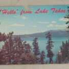 VINTAGE POSTCARD Nevada,Lake Tahoe, Hello From