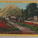 VINTAGE POSTCARD Oregon,Portland,Lambert Gardens 1950 Curteich