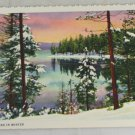 VINTAGE POSTCARD Oregon,Crescent Lake Curteich Linen
