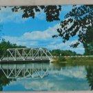 VINTAGE POSTCARD Wisconsin,Tomahawk,Bradley Dam Bridge