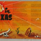 VINTAGE POSTCARD Comic- Hell in Texas Poem
