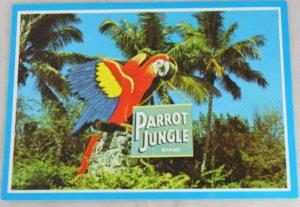 VINTAGE POSTCARD Florida,Parrot Jungle,Sign