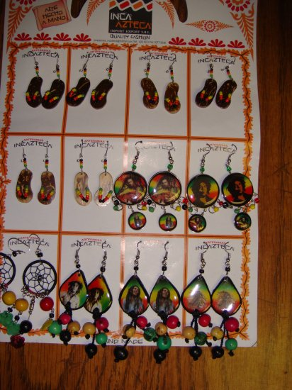 Bob Marley & Flip Flop Earrings
