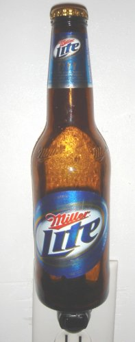 Miller Lite Hand Crafted Beer Bottle Night Light