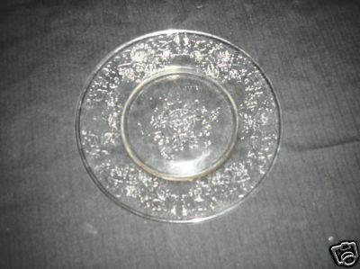 Crystal Salad Plate Florentine No. # 2 Hazel-Atlas