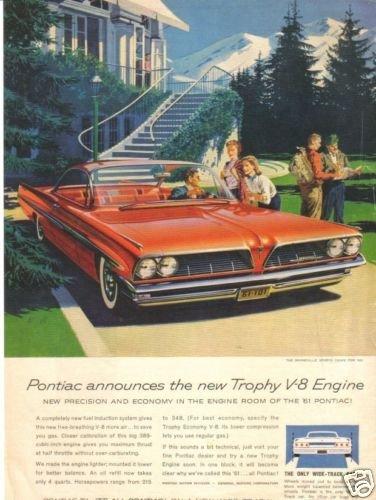 61 Pontiac Trophy V8  Bonneville 1961 Magazine Ad