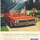61 Pontiac Trophy V8  Bonneville 1961 Magazine Ad