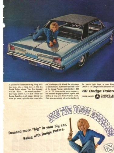 66  Polara Join The Dodge Rebellion 1966 Magazine Ad